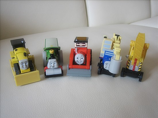 Thomas & Friends 5pcs Metal Engineering Diecast Toy Trains Loose(China (Mainland))