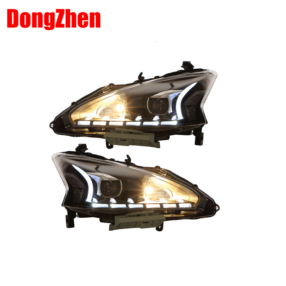 DongZhen car styling For Nissan Teana 2013-2015 headlights DRL  Teana LED light bar DRL xenon lens h7 xenon car styling<br><br>Aliexpress