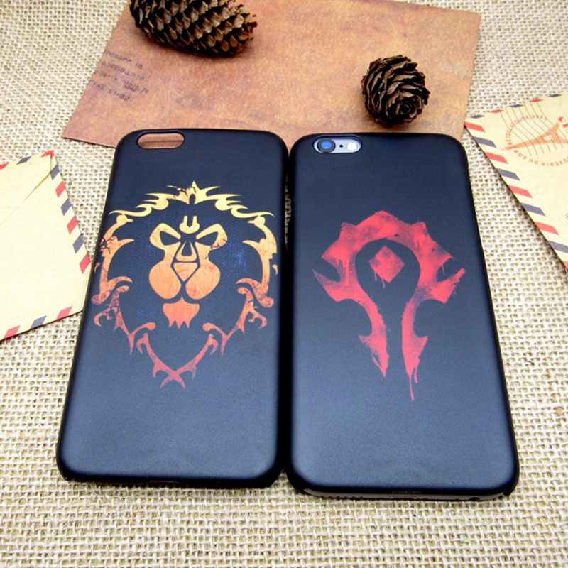 2016 New For the Horde Cartoon printing all-inclusive border fell slim hard plastic Phone bag case for iPhone 5S 6 6S Plus(China (Mainland))