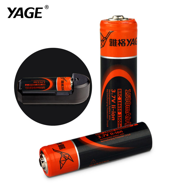 YAGE Original 18650 Lithium Rechargeable Battery 3.7V 1500mAh/2400mAh li-ion Batteries Bateria Litio for LED Flashlight Toys(China (Mainland))