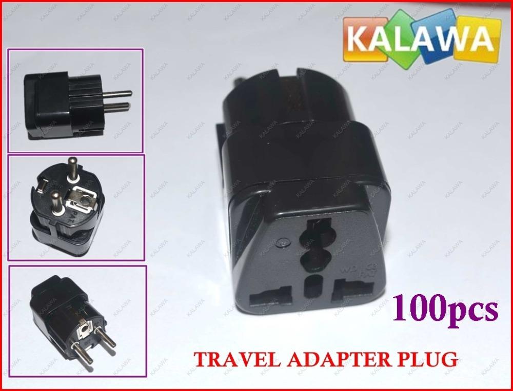1 лот 100шт-Универсале путешествия электрические адаптер питания преобразователя питания переменного тока разъем для де /ВС / ЕС /кор / Инна я-9 ФФФ