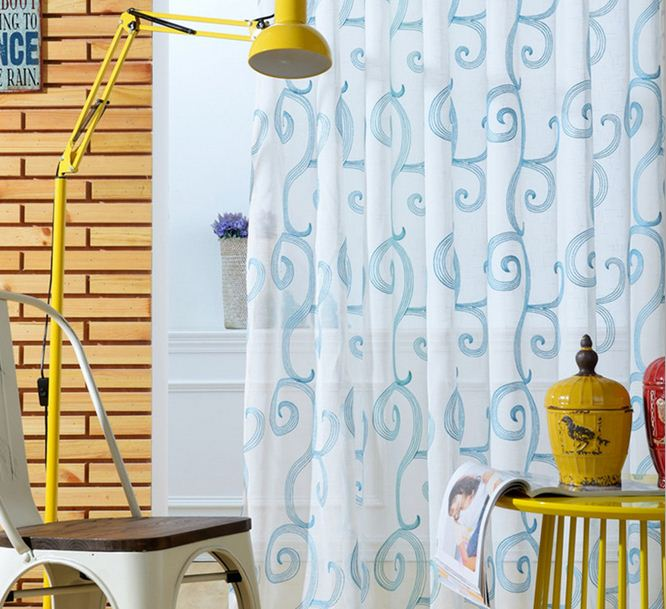 Embroidered voile curtains translucent tulle window - Cortinas para salon ...