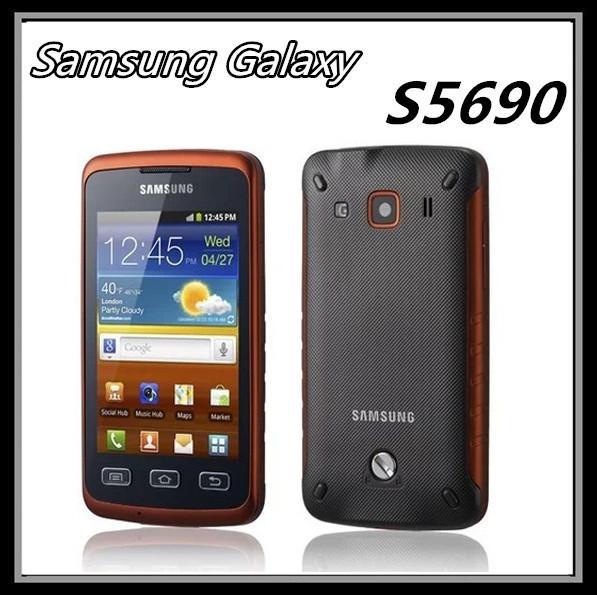 S5690 Original phone Samsung S5690 waterproof cell phones WIFI GPS 3.15MP Camera Cheap android Smartphone Unlocked refurbished(China (Mainland))