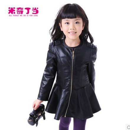 Leather jacket for toddler girl
