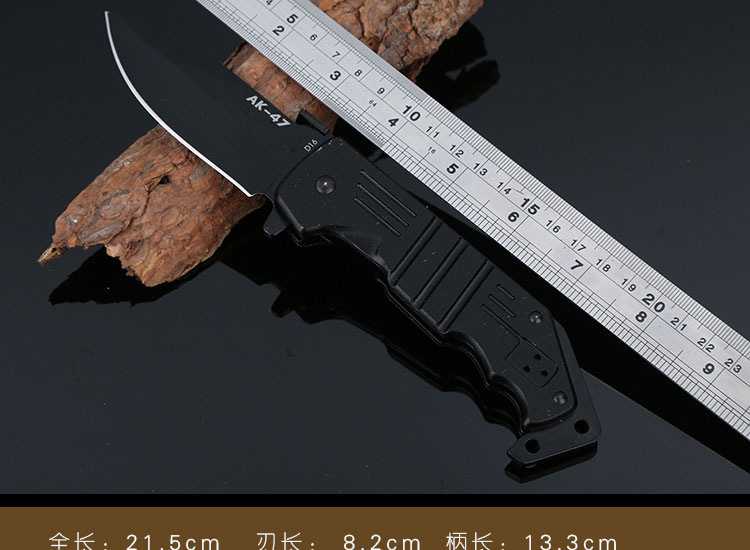 Buy Multifunction AK47 Folding Tactical Knife 57HRC Hardness 3Cr13Mov Camping Knife Mini Pocket Knives Outdoor Survival Tools T cheap