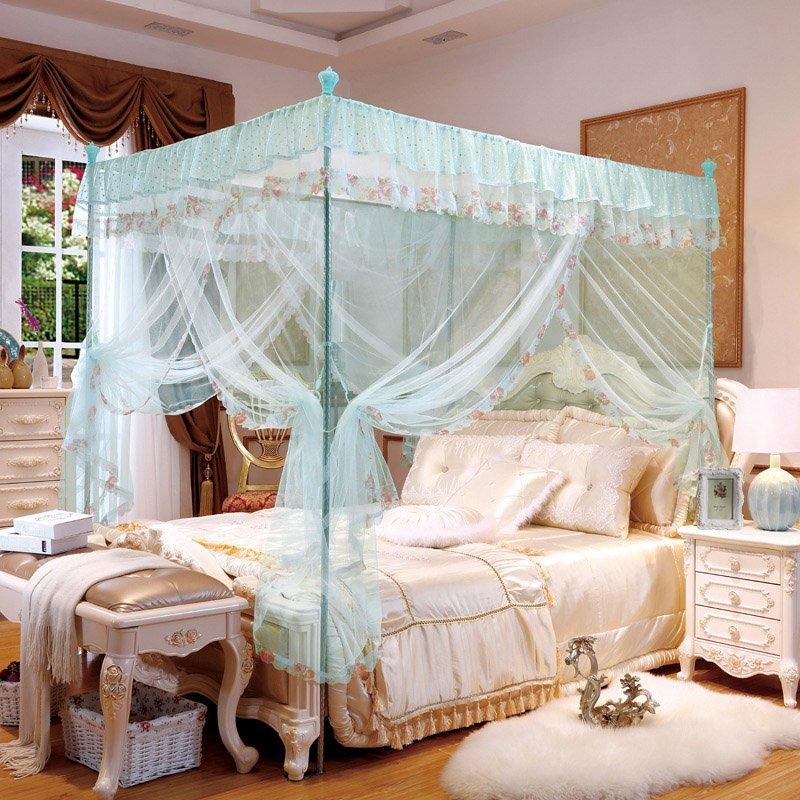 New design three doors mosquito net quadrate mesh bedding - Mosquito net door designs ...