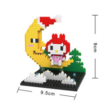 BOB 9537 Japanese Anime Series Hello Kitty Moon Kitty Educational Diamond Bricks Minifigures Building Block Best Toys