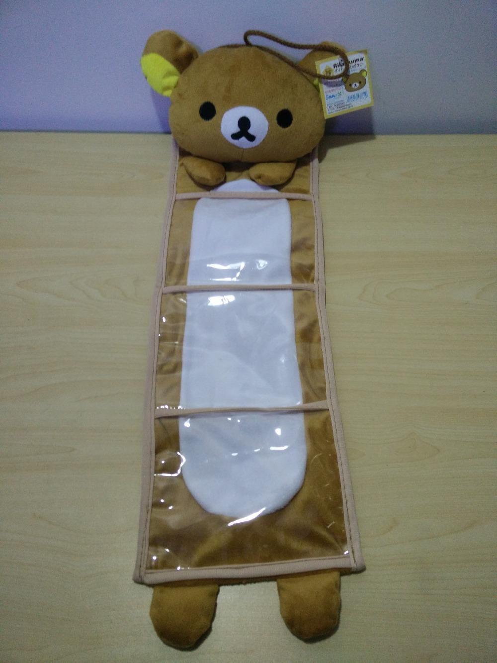 Daily household cute soft cartoon anime Rilakkuma bear/monsters wall hung receive sundries storage bag, family decoration gift(China (Mainland))