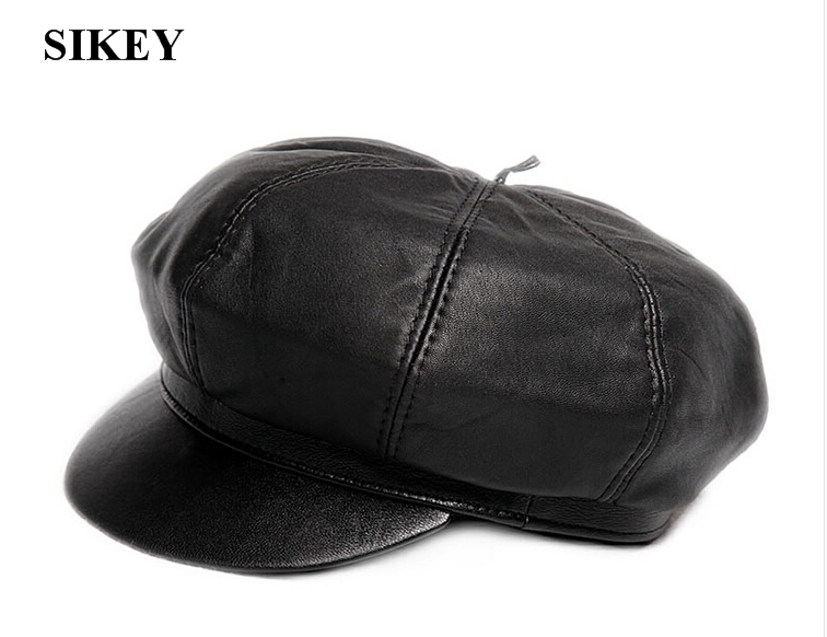 Driving Caps Leather Leather Driving Flat Cap