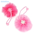 2pcs lot Hello Kitty Hair Bands For Children Cute Lace Floral Hair Ropes Ponytail Holder Ties