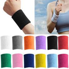 1 PCS Unisex Cotton Sweat Band Sweatband Wristband Arm Band Basketball Tennis Gym Yoga(China (Mainland))