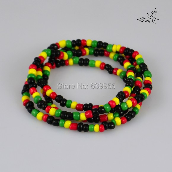 1pcs cristal de Estrás Hip Hop Bandera De Jamaica Beads pulsera Europea # 22680