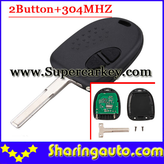 Free shipping 2 button remote key with 304MHZ for Chevrolet 1pc/lot<br><br>Aliexpress