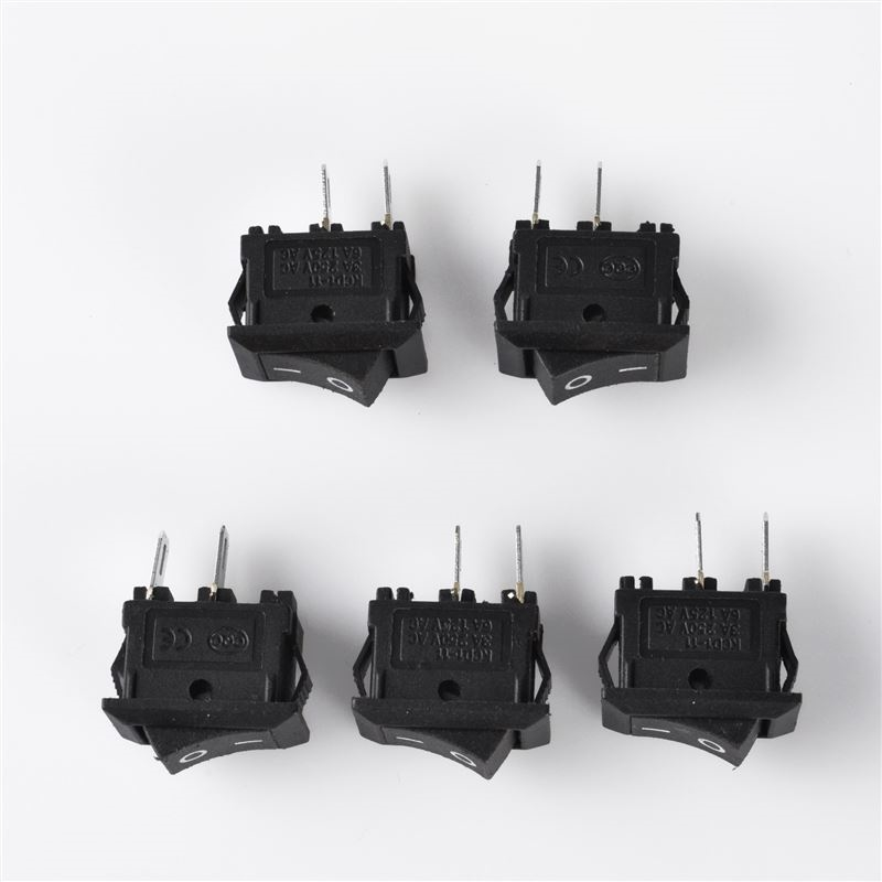 5 x Rocker Switch AC 250V 3A 2 Pin ON OFF I O SPST Snap in