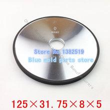 Herramientas de diamante 100% concentración ranurado rueda de diamante de carburo de tungsteno rueda de la clase especificaciones 125 * 31.75 * 8 * 5