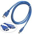 New Blue 1M 3ft High Speed USB 3 0 Extension Cable A Male to Female AM