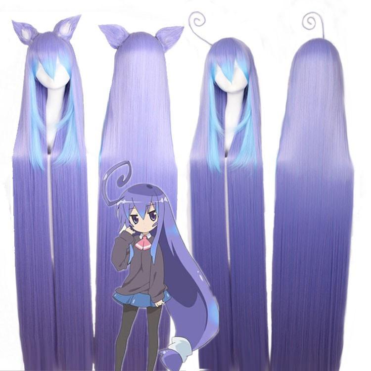 Alta calidad 150 CM larga recta Miniwa Tsumiki peluca Acchi Acchi Kocchi pelo sintético Anime Cosplay peluca Cos pelucas(China (Mainland))