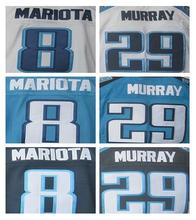 New wholesale 29 DeMarco Murray Jersey #8 Marcus Mariota elite white navy blue 100% Stitched sport jersey(China (Mainland))