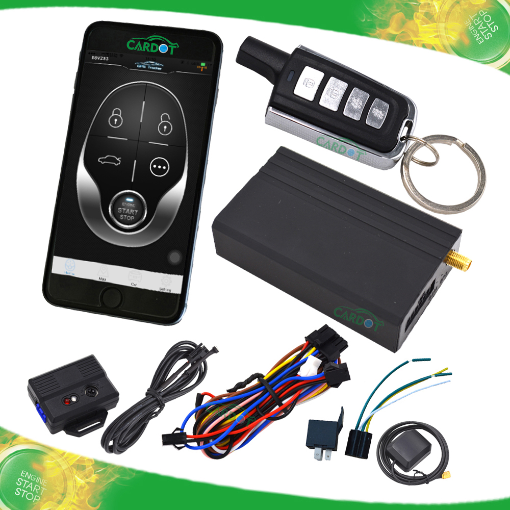 GSM vehicle alarm system with APP control GPS position supporting 12 or 24V