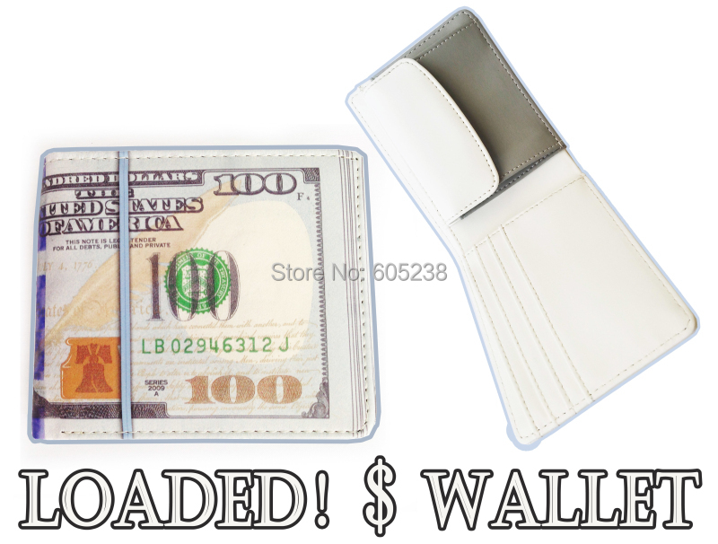 100 DOLLAR BILL 1000 Rouble MONEY WALLET MAN WALLET New 100 Bill Benjamin Wallet