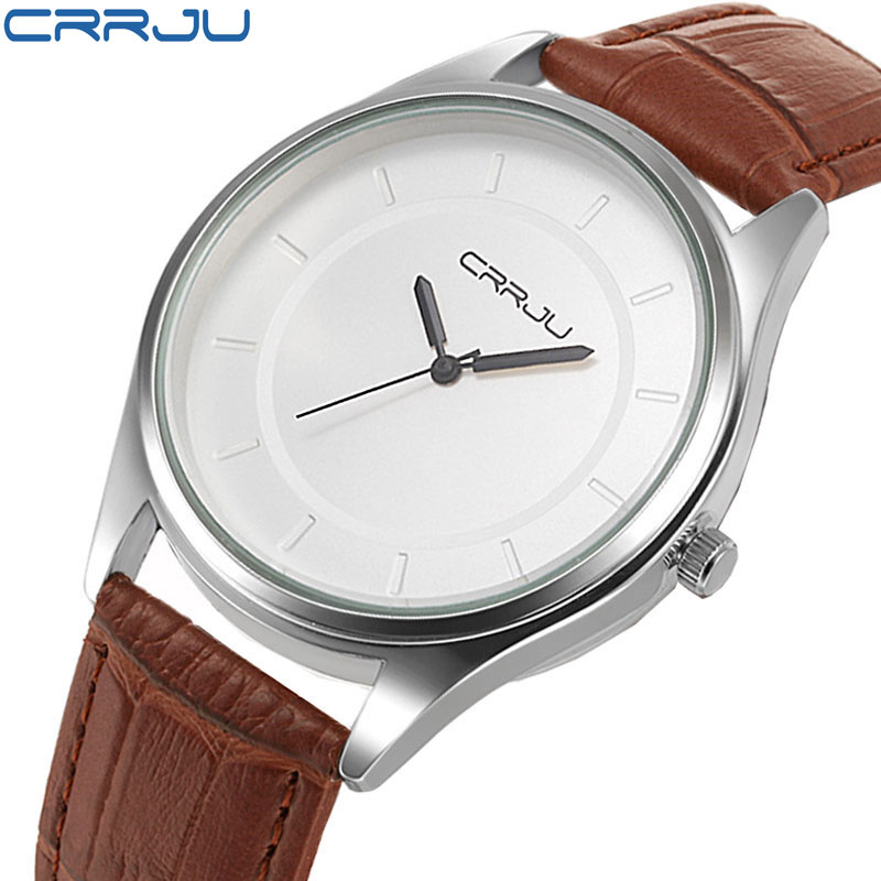 CRRJU luxury brand quartz watch Casual Fashion Leather watches reloj masculino men watch Waterproof Wristwatch Sports Watches(China (Mainland))