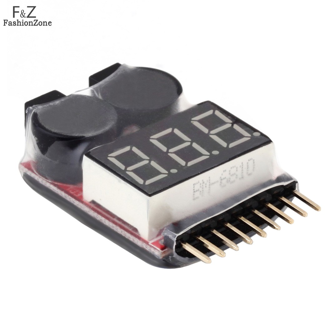2 in1 RC Lipo Battery Low Voltage Meter Tester Indicator 1S-8S LED Battery Low Voltage Buzzer Alarm(China (Mainland))