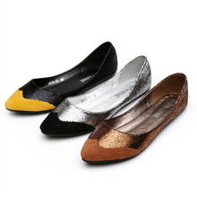Fashion Spell Color Pointy Toe Shallow Mouth Large Size 40 41 Womens Flats Shoes 2016 New Brand Discount Sale Footwear Shipping - Supermarket for U store