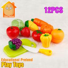 Minitudou 12PCS Food Miniature Plastic Fruit Toys Kitchen For Children Play Kitchen Set(China (Mainland))