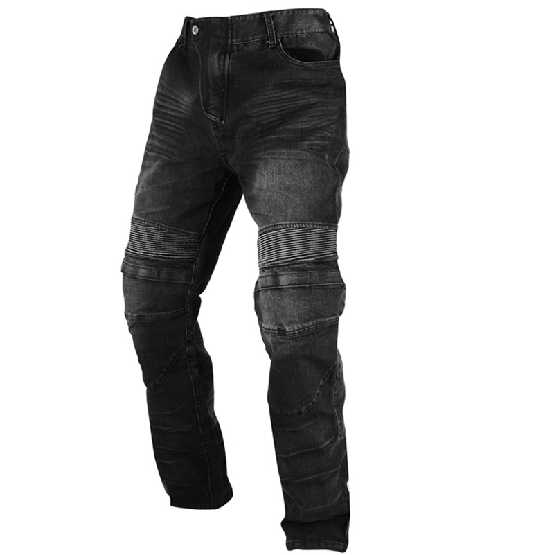 DUHAN Motorcycle Windproof Riding Trousers Men's Motocross Off-Road Racing Sports Jeans Casual Pants with Knee Protector Guards(China (Mainland))