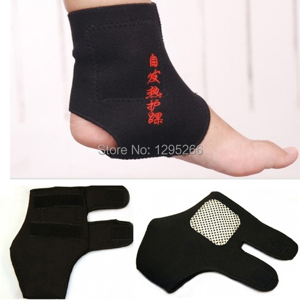 2Pairs Magnetic Therapy Spontaneous Self heating Ankle Brace Support Belt Foot Health Care nJhM