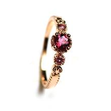 Природные Турмалин Серебряное Кольцо Для Женщин Стерлингового Серебра 925 Ювелирных Изделий(China (Mainland))