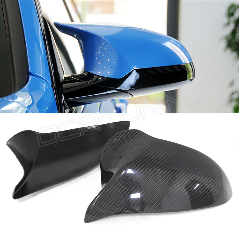 2 piece / pair Rear View mirror cover For BMW F80 M3 2014 2015 - on With Carbon Fiber Add on Style<br><br>Aliexpress