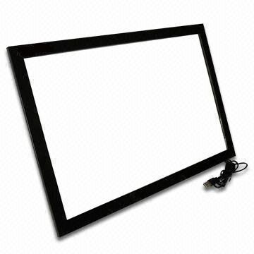48 inch USB IR touch screen frame,good multitouch screen overlay kit 10 points touch frame for touch monitor, plug and play(China (Mainland))