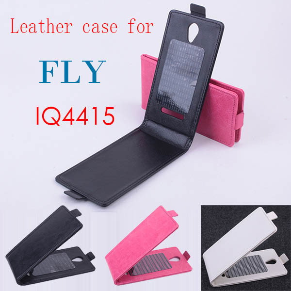For For Fly IQ4415 flip cover case protective phone for fly smartphone in stock 3 colors Free shipping(China (Mainland))