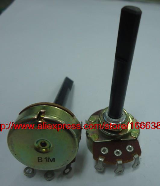 Electric guitar potentiometer single link B1M 50F RV24AF-10 plastic shaft 2pcs(China (Mainland))