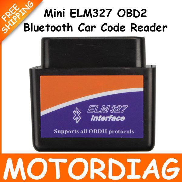 Mini ELM327 OBD2 Bluetooth Adapter V1.5 V2.1 OBD 2 Car Scanner Automotive Diagnostic Scan Tool Auto ELM 327 Escaner Carro(China (Mainland))