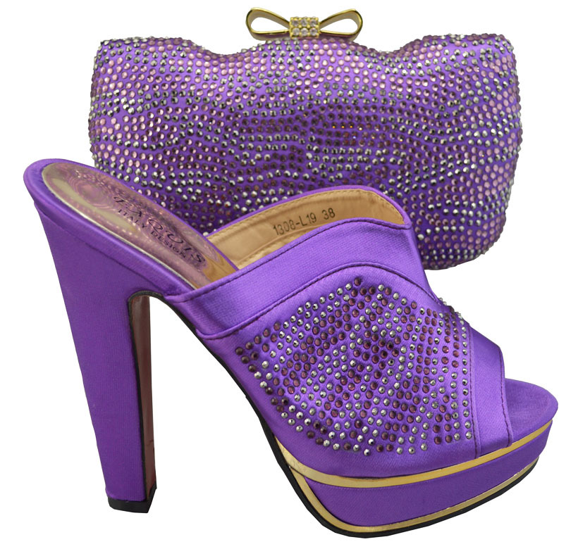 JBS1-55,Nice-looking design Italian Shoes With Matching Bags in purple,high quality African Women Shoes and Bags Set on sale!(China (Mainland))