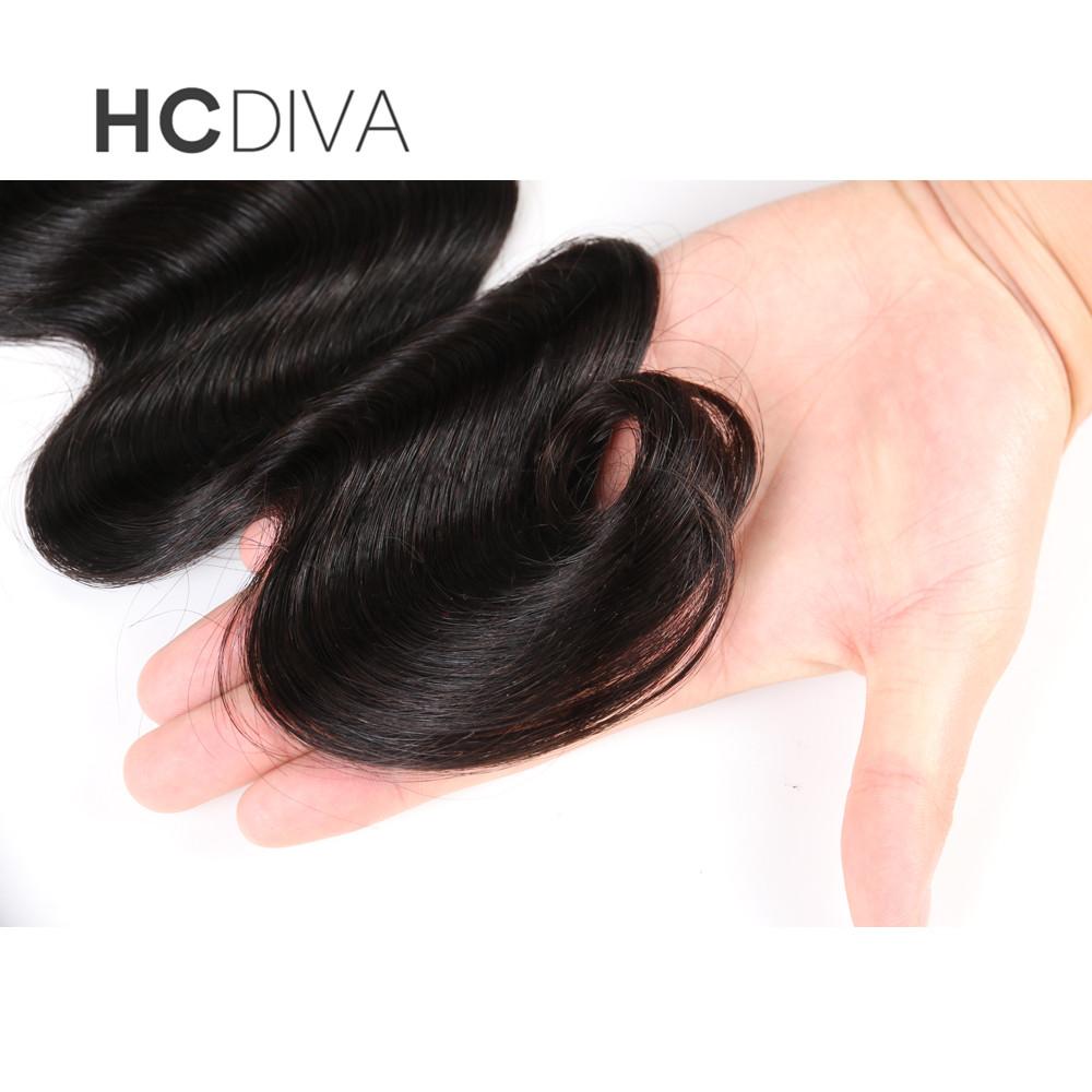 HCDIVA Peruvian Body Wave Virgin Hair Weaving 100g /Bundle 100% Human Hair Weave Bundles Unprocessed Hair Weft Free Shipping