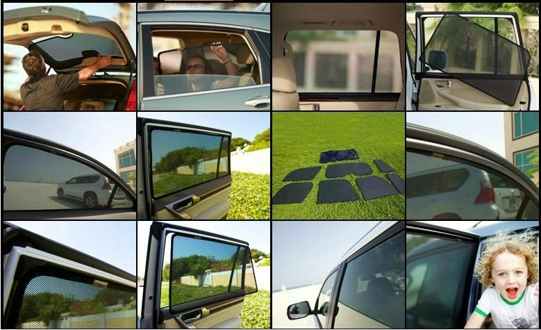 Rear sunshade box curtain for car\auto ---sunscreen unti uv(China (Mainland))