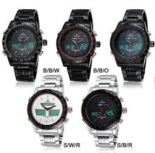 Watches men NAVIFORCE 9024 luxury brand Full Steel Quartz Clock Digital LED Watch Army Military Sport