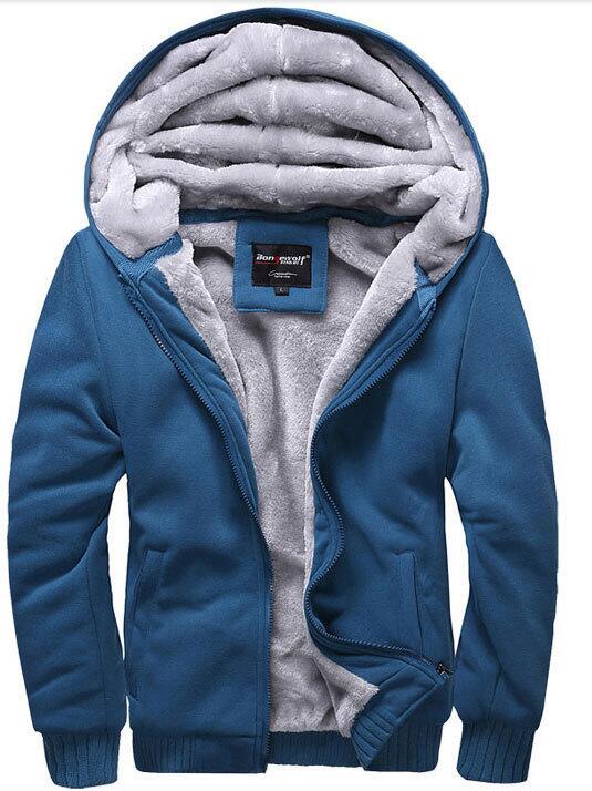 plus size 5xl Wool warm winter coats mens hoodies and sweatshirts sports baseball sportswear uniform arm tracksuits men outwear(China (Mainland))