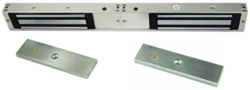 DOUBLE DOOR=620LB X2 Force Electric Lock Magnet Electromagnet Magnetic Solenoid<br>