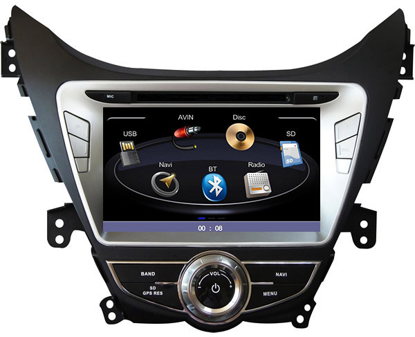 8 inch Car DVD Player For Hyundai Elantra 2011 2012 / Avante / i35 with GPS Navigation,Radio,Stereo,BT,Head Unit,Multimedia+ map