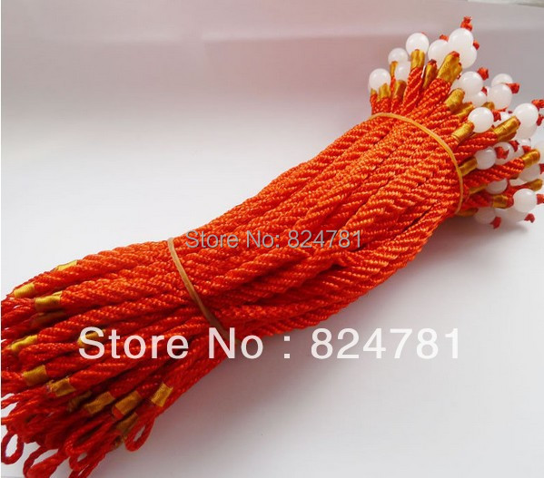Free Shipping Wholesale Fashion 100 String Red Bracelet Cord 180mm Jewelry DIY X954(China (Mainland))