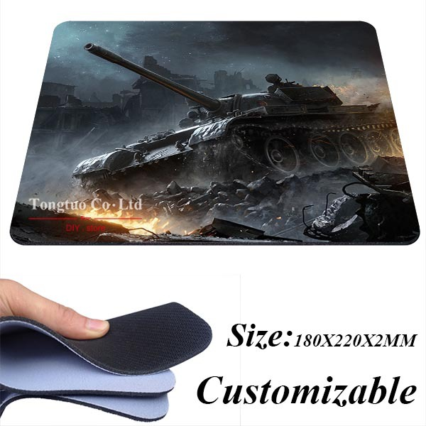 2015 sell World of tanks Wargaming net Gaming Silicone Notebook Mouse Pad 180X220X2MM