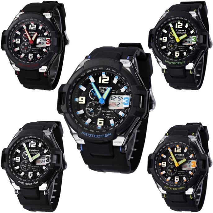 Гаджет  Multi Function Waterproof Double Digital Quartz LED Sports Wrist Watch Jecksion None Часы