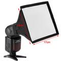 17 15cm Professional Photo Foldable Softbox flash Speedlight diffuser for Canon Nikon Sony Speedlight