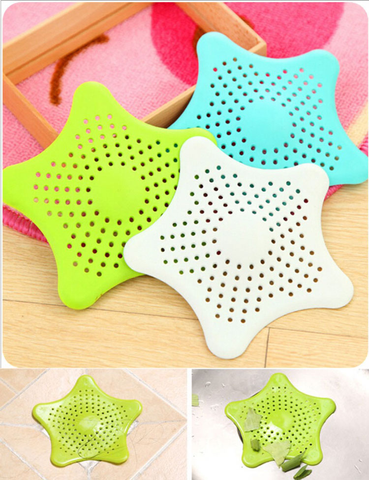 New Starfish Drain Hair Catcher Bath Stopper Strainer Filter Shower Cover Trap Waterproof 4colors<br><br>Aliexpress