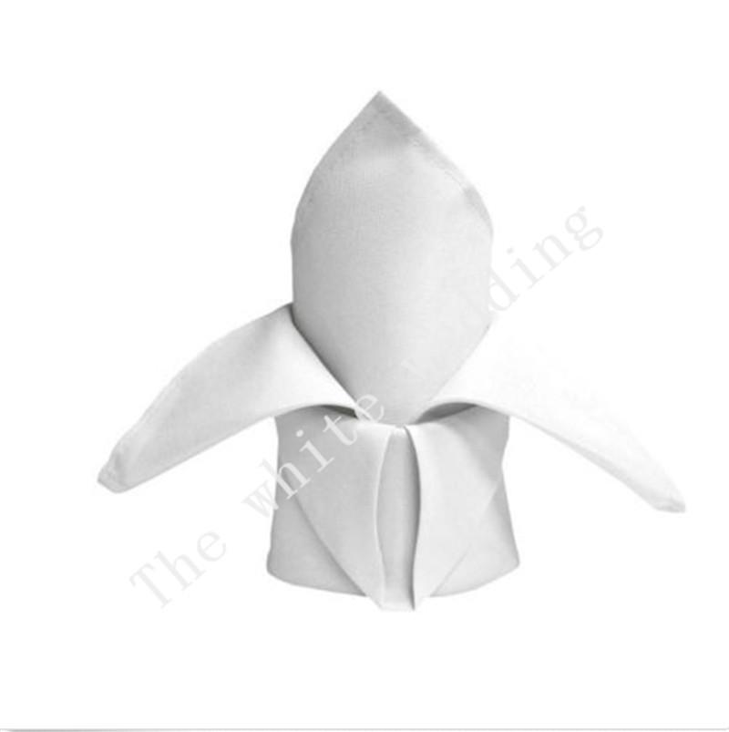 100pcs 16'' x 16'' Wedding Cloth Napkins white napkins Linen cotton napkin(China (Mainland))