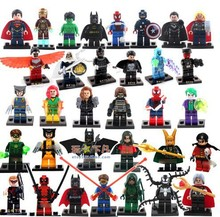 Decool 330Pcs Building Blocks Super Heroes Avengers Minifigures Loki Black Window Deadppol Loki Venom Robin Mini Figures Toys